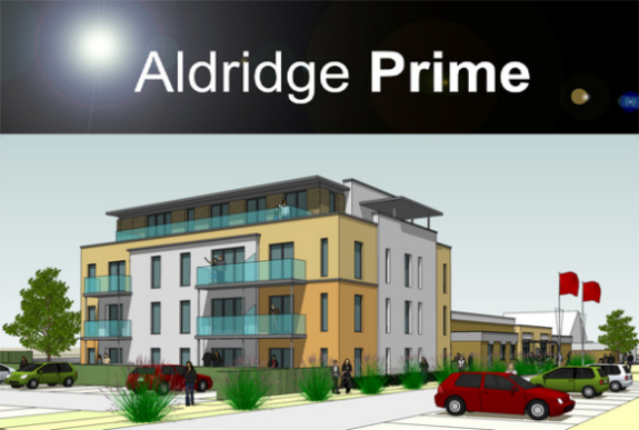 Aldridge Prime new development of Aldridge magistrates buildings into modern work spaces and luxury apartments in Aldridge
