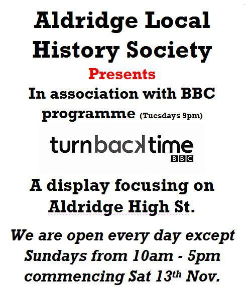 Local History society in asssociation with the BBC Turnback time project, in Aldridge, Walsall west midlands