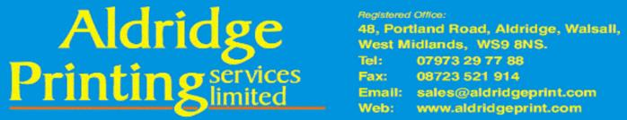 Aldridge printings services in Aldridge, Walsall west midlands