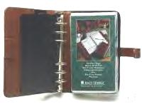 Real leather Organiser notebook with 6 rings complete with punched sheets and mechanical propelling pencil