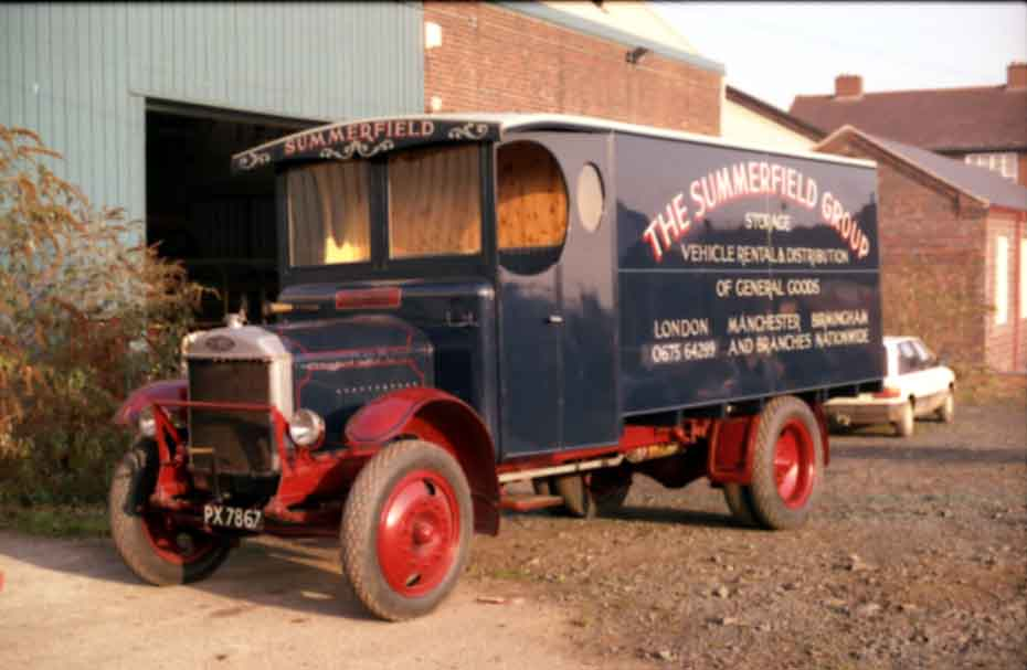 1928 van owned by Aston Manor Road Transport Museum moved to new location in Aldridge Walsall