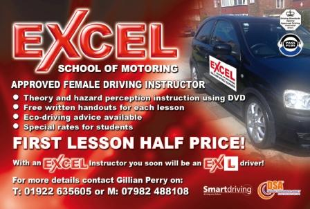 Excel Driving School Female Instructor in Aldridge
