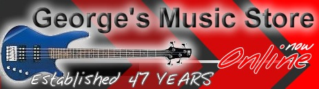 Georges Music store in Aldridge, Walsall, for disco, dj, pa, amps, guitars, sheets music, drums, violins and pianos