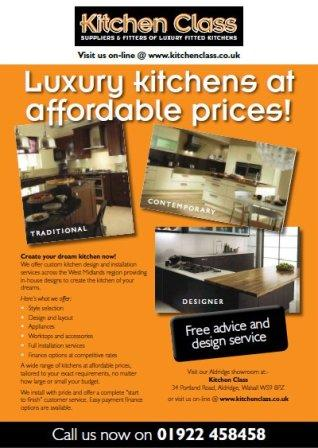Kitchen Class in Aldridge for Specialists in Luxury fitted kitchens and replacement doors