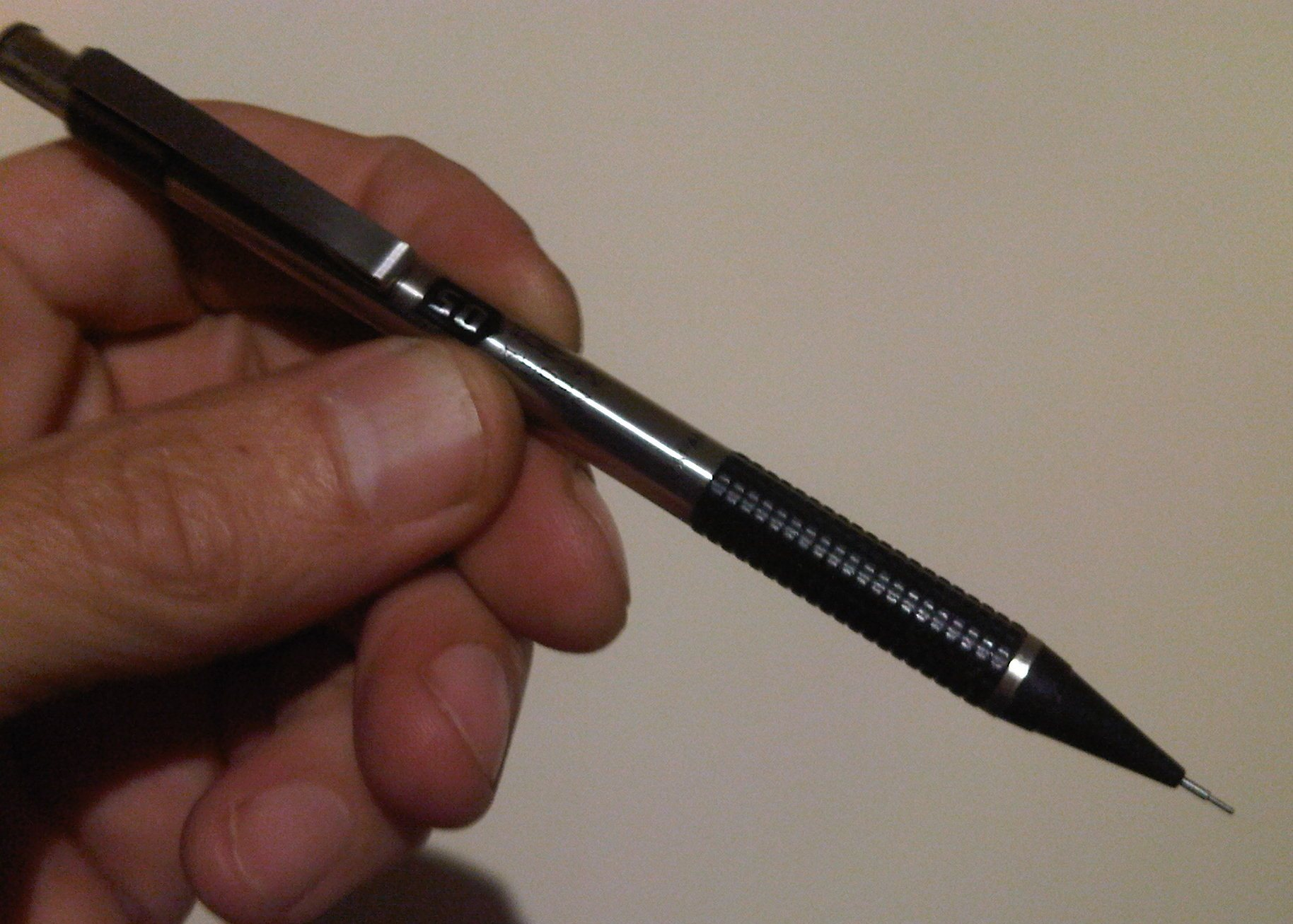 FREE Stainless Steel Mechanical Propelling Pencil with eraser under top cap