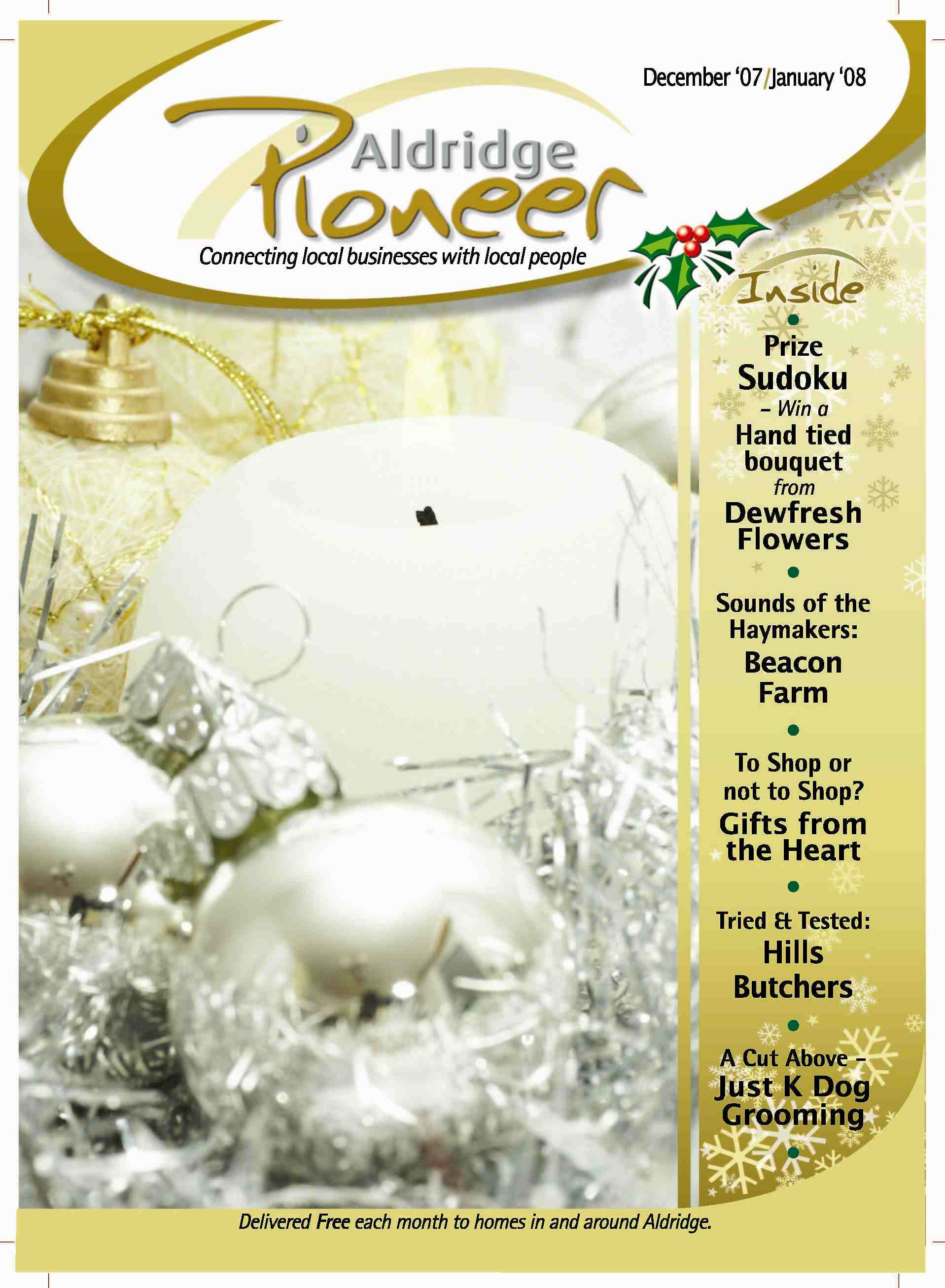December 2007 Edition of Aldridge Pioneer Magazine
