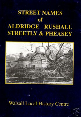 Buy your copy of Street names in Aldridge from Aldridge website