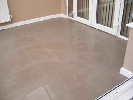 T.P. Kitchen and Bathroom Tiling Services completed floor tiling job in Walsall West Midlands
