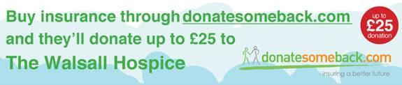 Walsall Hospice gets a donation when you use this service !