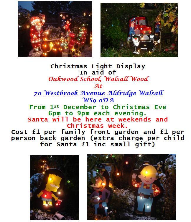 Aldridge charity Christmas light display